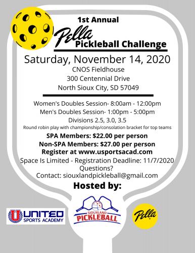 Pickleball Challenge Flyer